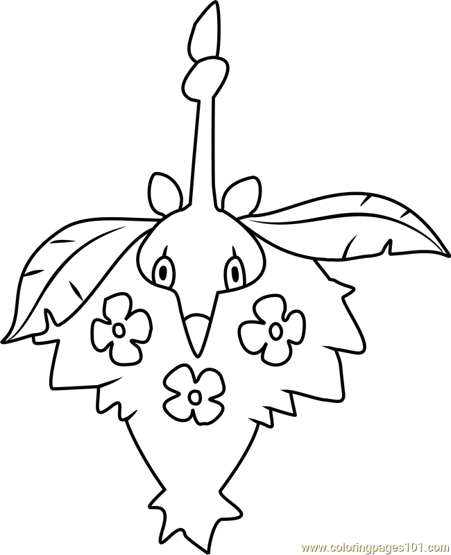 Wormadam Pokemon Coloring Page