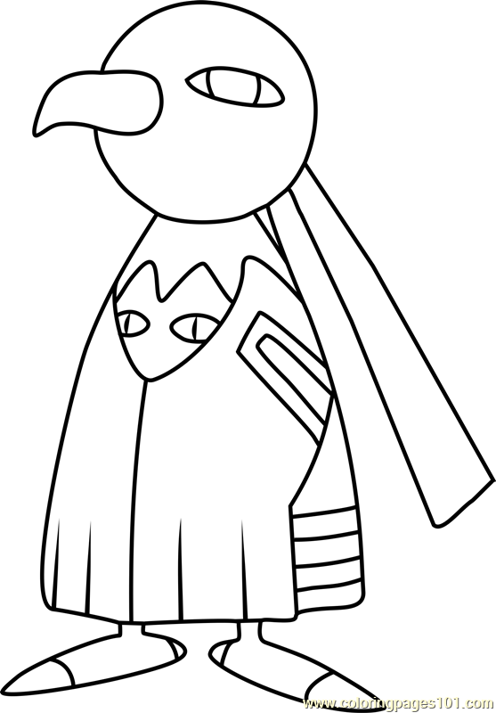 Xatu Pokemon Coloring Page Free Pok 233 Mon Coloring Pages