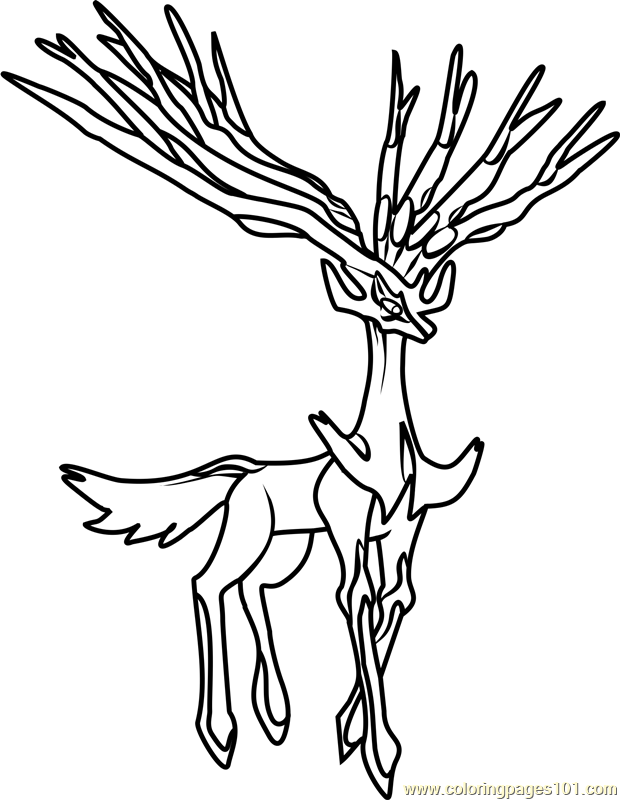 Xerneas Pokemon Coloring Page