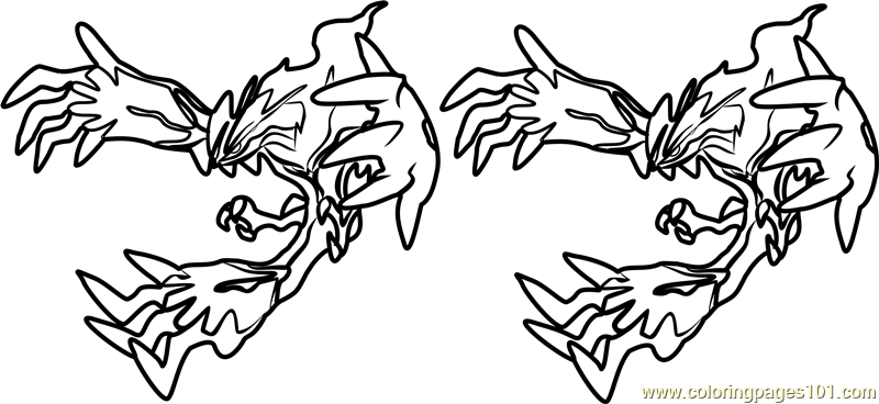 yveltal pokemon coloring page - Coloring Pages 101