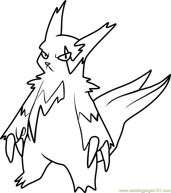 Zangoose Pokemon Coloring Page Free Pok 233 Mon Coloring