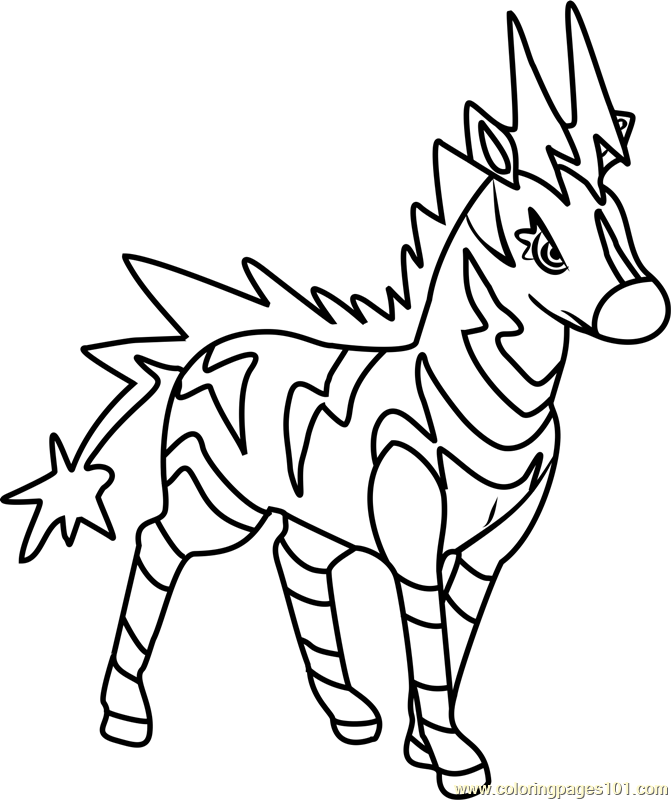 Zebstrika pokemon coloring page