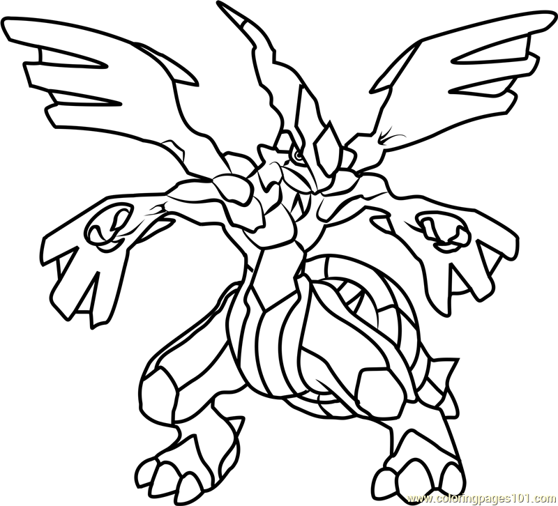 Zekrom pokemon coloring page