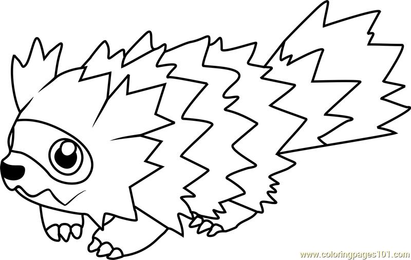 Zigzagoon Pokemon Coloring Page Free Pok 233 Mon Coloring