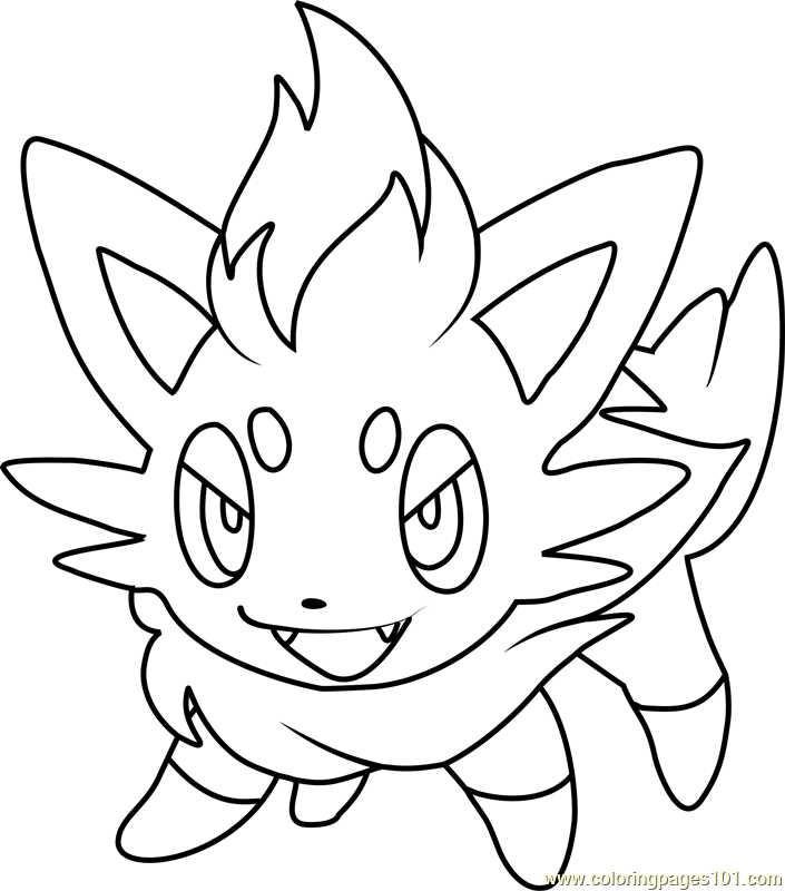 Zorua Pokemon Coloring Page Free