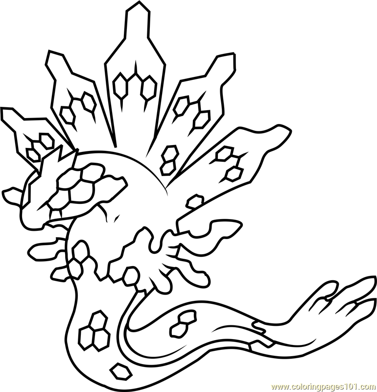 Zygarde Pokemon Coloring Page Free Pokmon Coloring Pages
