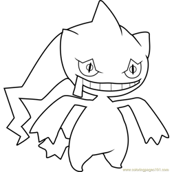 Banette Pokemon Free Coloring Page for Kids