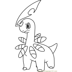 Bayleef Pokemon Free Coloring Page for Kids
