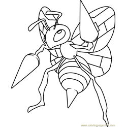 beedrill Coloring Pages 4 beedrill worksheets for kids