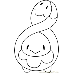 Budew Pokemon Free Coloring Page for Kids