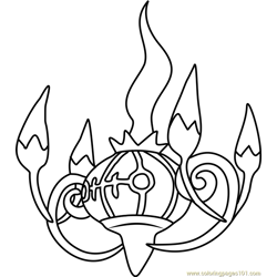 Chandelure Pokemon Coloring Page