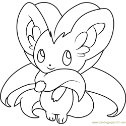 Cinccino Pokemon Free Coloring Page for Kids