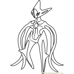 more pokmon coloring pages deoxys pokemon