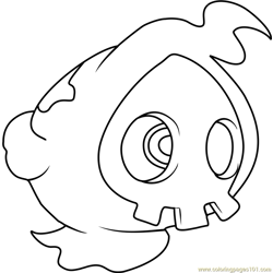 Duskull Pokemon Free Coloring Page for Kids