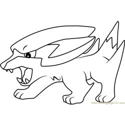 Electrike Pokemon Coloring Page