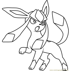 glaceon Coloring Pages - 1 \'glaceon\' worksheets for kids