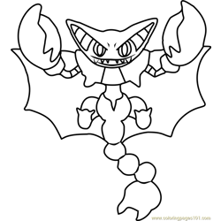 Umbreon Pokemon Coloring Page
