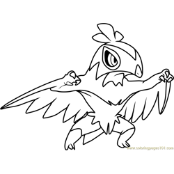 More Pokmon Coloring Pages Hawlucha Pokemon