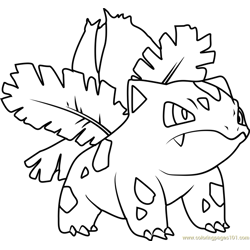 Ivysaur Pokemon Free Coloring Page for Kids