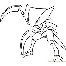 Kabutops Pokemon Free Coloring Page for Kids