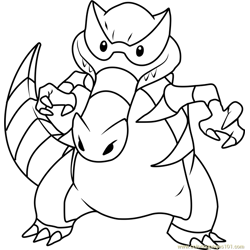 Krookodile Pokemon Free Coloring Page for Kids