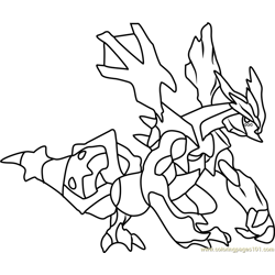 Kyurem Pokemon Free Coloring Page for Kids
