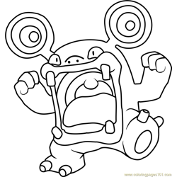 Loudred Pokemon Free Coloring Page for Kids