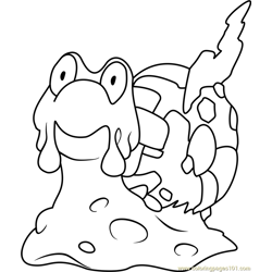 Magcargo Pokemon Free Coloring Page for Kids
