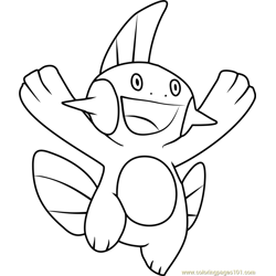 Greninja Pokemon Coloring Page