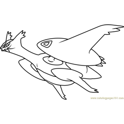 Mega Latios Pokemon Free Coloring Page for Kids