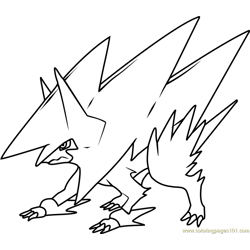 Mega Manectric Pokemon Free Coloring Page for Kids