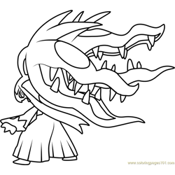 Mega Mawile Pokemon Free Coloring Page for Kids