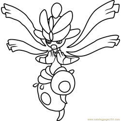 Mega Medicham Pokemon Free Coloring Page for Kids