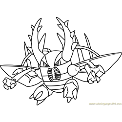 Mega Pinsir Pokemon Free Coloring Page for Kids