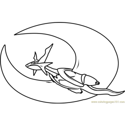 Mega Salamence Pokemon Free Coloring Page for Kids