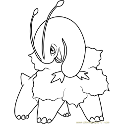 Meganium Pokemon Free Coloring Page for Kids