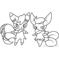 Zigzagoon Pokemon Coloring Page