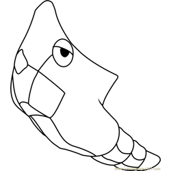 Metapod Pokemon Free Coloring Page for Kids