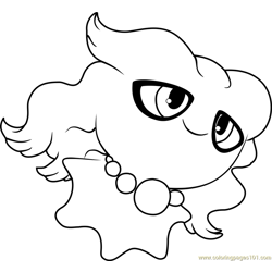 Misdreavus Pokemon Free Coloring Page for Kids