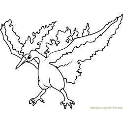 Greninja pokemon coloring page free pok mon coloring for Moltres coloring pages