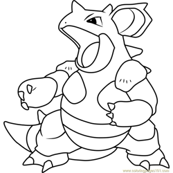 Nidoqueen Pokemon Free Coloring Page for Kids