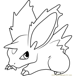 Nidoran Pokemon Free Coloring Page for Kids