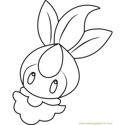 Petilil Pokemon Free Coloring Page for Kids