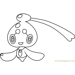 Phione Pokemon Free Coloring Page for Kids