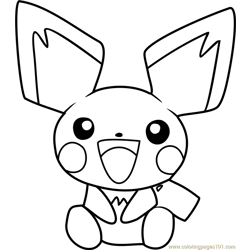 Pichu Coloring Pages 2
