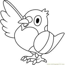 Pidove Pokemon Free Coloring Page for Kids