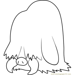 Piloswine Pokemon Free Coloring Page for Kids