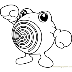 Poliwhirl Pokemon coloring page