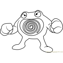 Poliwrath Pokemon coloring page