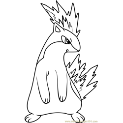 Quilava Pokemon coloring page